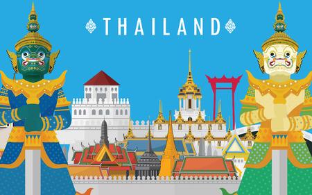 Guardian Giant en Tailandia y el Gran Palacio de Bangkok