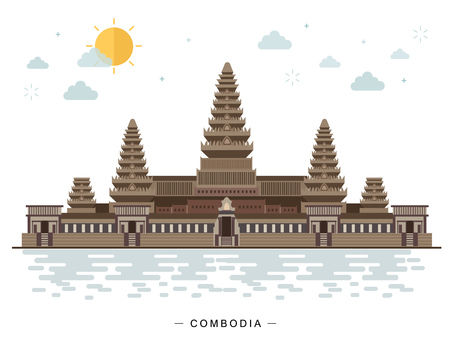 Angkor Wat, Cambodge, monument, voyage et attraction touristique.