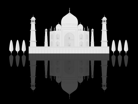Taj Mahal an ancient Palace in India and The seven wonder of the world 免版税图像 - 126004520