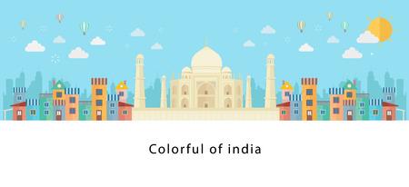 Taj Mahal ein alter Palast in Indien und die sieben Weltwunder