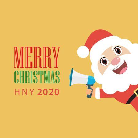 Santa talk 2020 on orange background