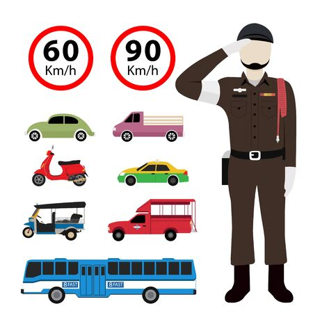 Thai police and transportation