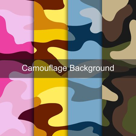 Military colorful camouflage pattern background Ilustrace