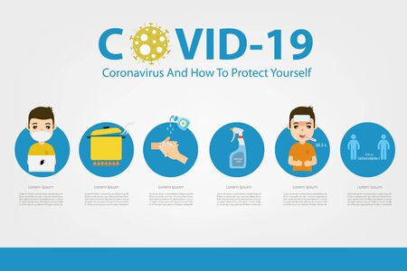 Covid-19 prevention infographic. Vector illustration