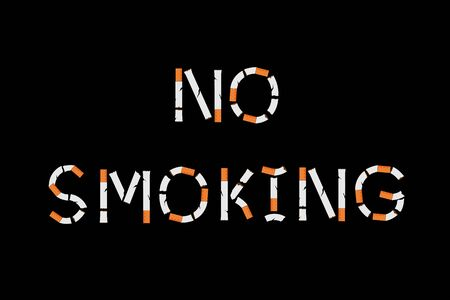 No smoking sign with cigarettes shape. Vector illustration