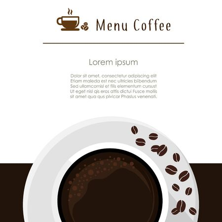 Coffee tempate brochure vector, coffee shop menu design