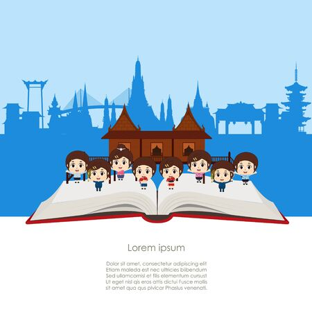 Kids in Bangkok, Thailand and Landmarks and travel place