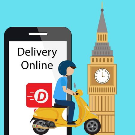 Customer delivery ride scooter in london