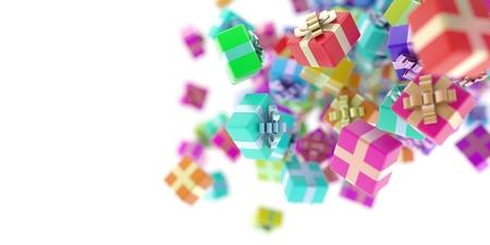 Coffrets cadeaux, 3d illustration originale