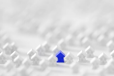 multiple house: Home market conceptual background Stock Photo