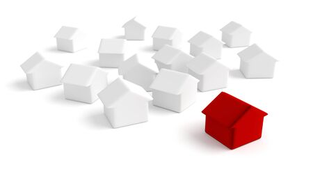 multiple choice: Home market concepts Stock Photo