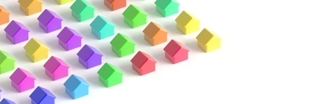 multiple house: Home market concepts Stock Photo