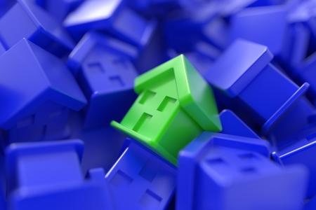 Home market conceptual background Stock Photo