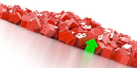 residential market: Home market conceptual background Stock Photo