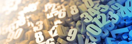 signos matematicos: Los números aleatorios de fondo
