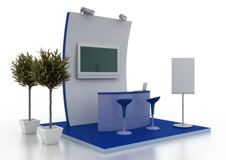 Exhibition trade booth Imagens