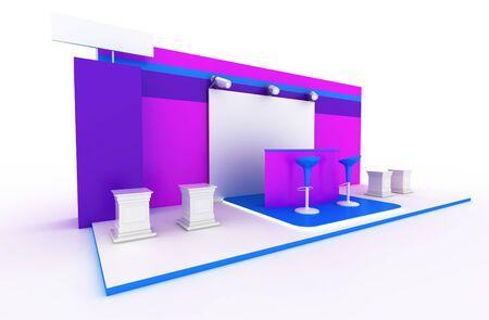exhibition stand: Exhibition stand, original three dimensional illustration