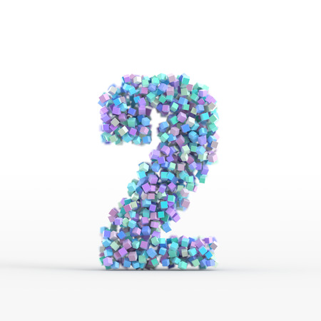 number icon: Number icon isolated on white, original three dimensional illustration Stock Photo