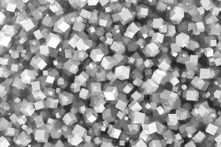 three dimensional background: Abstract gray cubes three dimensional background, 3d rendering