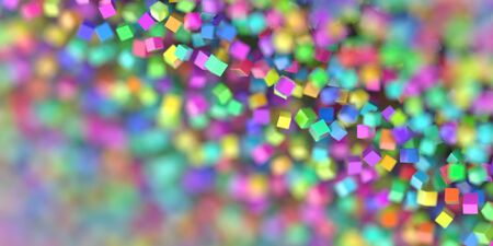 Abstract cubes three dimensional background, 3d rendering