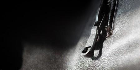 fashion industry: Black leather jacket, fashion industry Stock Photo