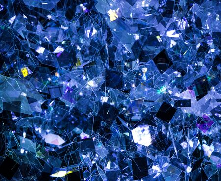 crystal background: Blue crystal background, nice reflection effects Stock Photo