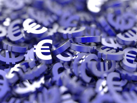 currency symbols: Euro currency symbols background, financial concepts Stock Photo