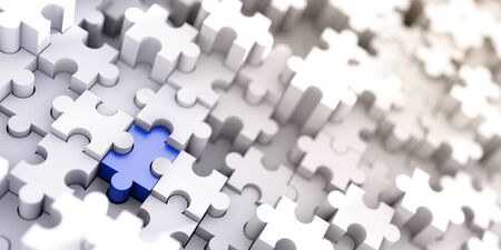 color match: Jigsaw conceptual background, 3d illustration