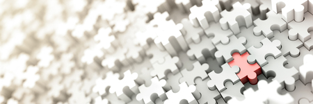 Jigsaw conceptual background, 3d illustration