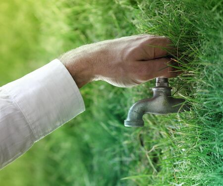 faucet water: Water, nature and life concepts