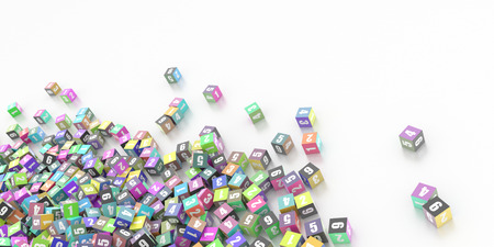 numbers: Infnite cubes with random numbers