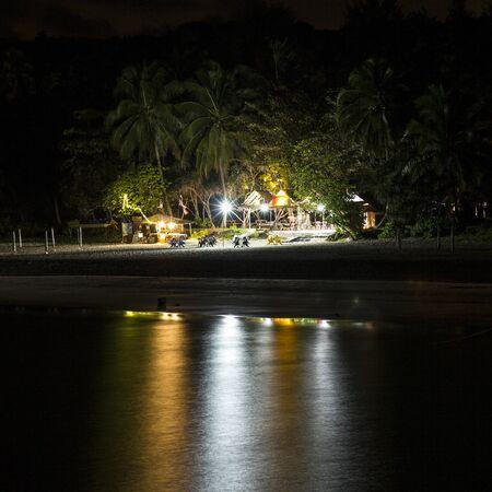 perhentian: Tropical beach in Malaysia, panoramic night view Stock Photo