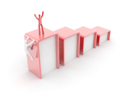 business performance: Original three dimensional background, business and financial concepts