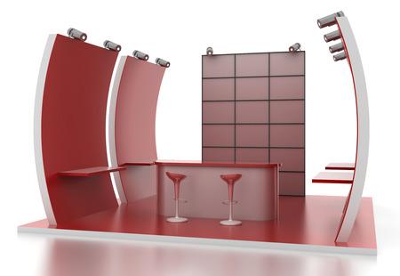 Leere Messestand, Kopie Raum Illustration, 3D-Rendering Standard-Bild - 55685095