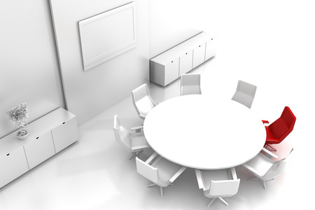 copy space: Empty exhibition booth, copy space illustration, 3d rendering