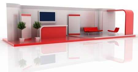 Leere Messestand, Kopie Raum Illustration, 3D-Rendering Standard-Bild - 55685873