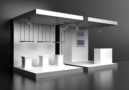 Leere Messestand, Kopie Raum Illustration, 3D-Rendering Standard-Bild - 55686512
