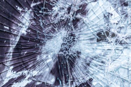 glass texture: Broken glass texture, outdoor photo