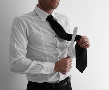 suicidal: Suicidal depressed businessman, business failure concepts