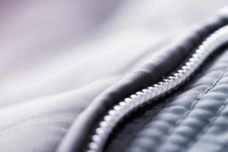 fashion industry: Jacket with zipper detail, fashion industry concepts