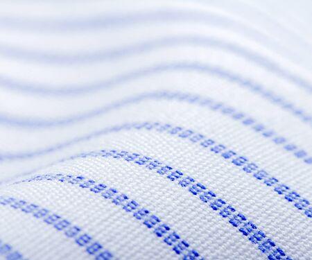textile industry: Elegant cotton shirt macro photo, textile industry background Stock Photo
