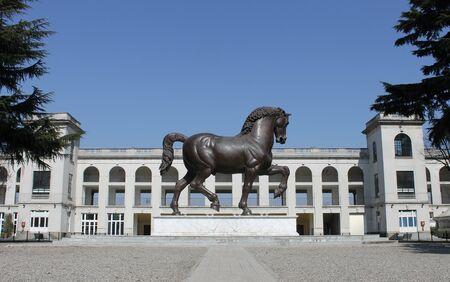 racetrack: Horse racetrack in Milan, Italy Stock Photo