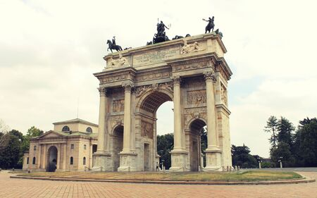 pace: Arco della Pace, Milan, Italy