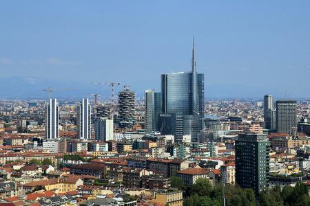New modern skyline in Milan, Italy