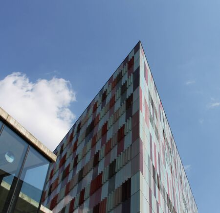 commercial real estate: New modern architecture in Milan, Italy Editorial
