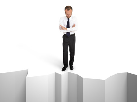 suicidal: Suicidal and depressed businessman, business concepts Stock Photo