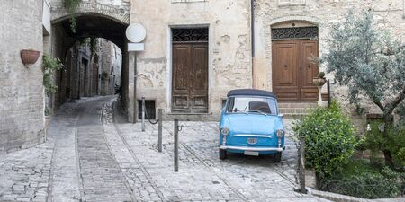 royalty free: Vintage Italian old car, royalty free photo Stock Photo