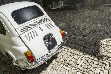 Vintage coche viejo italiano, imagen foto Foto de archivo