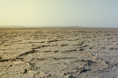 large formation: Empty and dried desert in central Iran