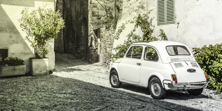 royalty free photo: Vintage Italian old car, royalty free photo Stock Photo